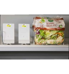 Sistem pusher pentru salata ambalata
